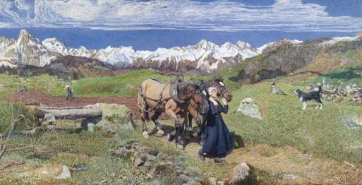 Giovanni Segantini, La raffigurazione della primavera, 1897, olio su tela, 116x227 cm French&Company, New York