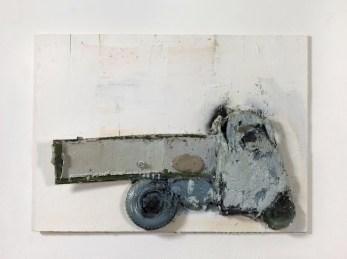 G. Cossio, Ape grigia, 2014, tecnica mista e collage su tavola, cm. 80x110x18, foto Dario Lasagni_resized