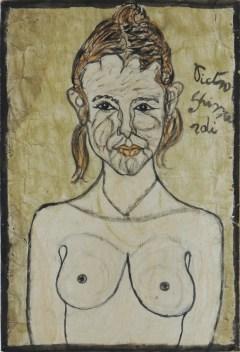 Pietro Ghizzardi, Ritratto di donna, tecnica mista su cartone, cm 80x50