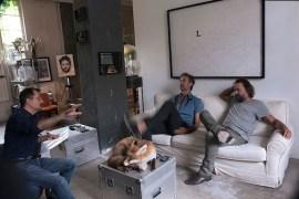 ©MOnicamazzoleni, 2014. I Masbedo nel loro studio con Alessandro Trabucco