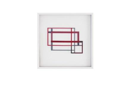 Alessandro Traina, Consequenza/3, 2013, acciaio corten, bitume e stoffa, 50x50 cm