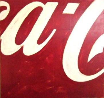 Mario Schifano, Coca Cola, smalto su carta intelata, '67/'69, cm 101x106
