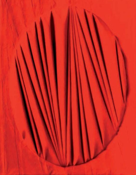 Umberto Mariani, La forma celata, 2008, vinilico e sabbia su lamina di piombo, cm 42,5x33