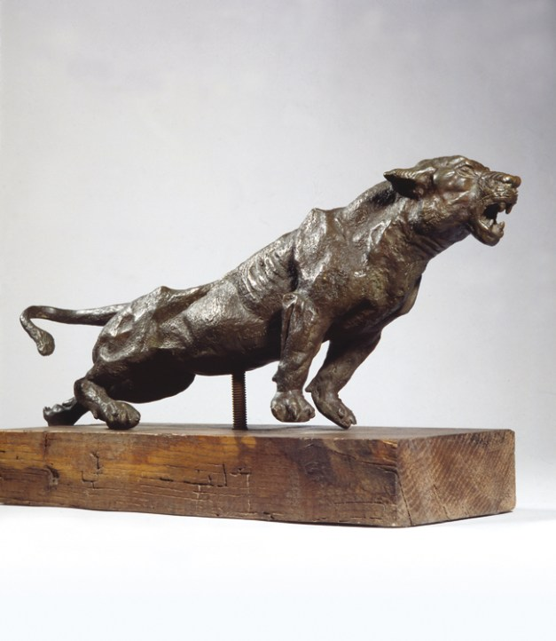 Antonio Ligabue, Pantera, 1939-40, bronzo, cm 53x21x9,5