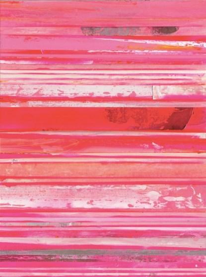Untitled, 2014, acrilico su carta gommata su tela, cm 40x30. Ph. Courtesy dell'artista
