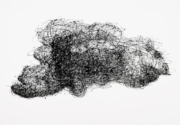 Danilo Bucchi, CLOUD, 2014, enamel on canvas, 70x100 cm