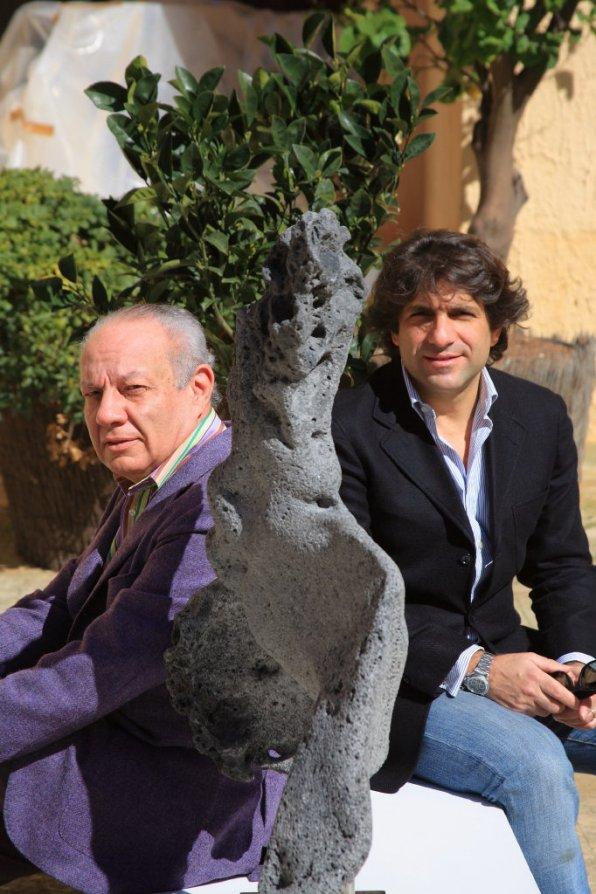 FAM, Nino Pusateri e Paolo Minacori (presidente e direttore artistico Amici della Pittura Siciliana)
