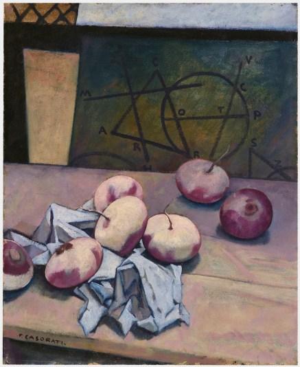Felice Casorati, Rape, 1938 circa, olio su tela incollata su supporto di protezione, cm. 61,5x50, Galleria d'arte moderna di Palazzo Pitti, acquistato alla XXI° Esposizione della Biennale Internazionale d'Arte, Venezia 1938.