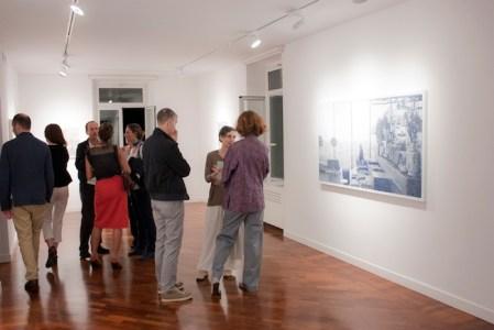 Veduta dell'opening del 21 ottobre scorso da smART - polo per l'arte, Roma