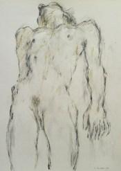 Lois Anvidalfarei, Akt 2014, Bleistift auf Papier, 50x70cm