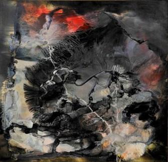 Paul Jenkins, Sphinx, 1958, oil and enamel on canvas, 163.8 x 169.5 cm