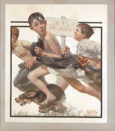 Norman Rockwell No Swimming (Divieto di balneazione), 1921 Olio su tela, 64 x 56,5 cm Cover illustration for The Saturday Evening Post, June 4, 1921 Collection of The Norman Rockwell Museum at Stockbridge, Norman Rockwell Art Collection Trust, NRACT.1973.15 ©1921 SEPS: Licensed by Curtis Licensing, Indianapolis, IN, USA. All rights reserved. www.curtislicensing.com Norman Rockwell Museum Collections