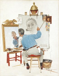 Norman Rockwell Triple Self-Portrait (Triplo autoritratto), 1960 Olio su tela, 113 x 88 cm Cover illustration for The Saturday Evening Post, February 13, 1960 Collection of The Norman Rockwell Museum at Stockbridge, Norman Rockwell Art Collection Trust, NRACT.1973.19 ©1960 SEPS: Licensed by Curtis Licensing, Indianapolis, IN, USA. All rights reserved. www.curtislicensing.com Norman Rockwell Museum Collections