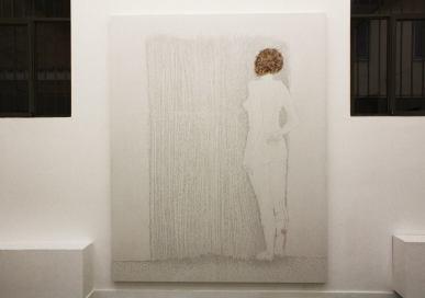 Tamara Ferioli, Heimaey, 2014, veduta della mostra, Officine Dell'Immagine, Milano