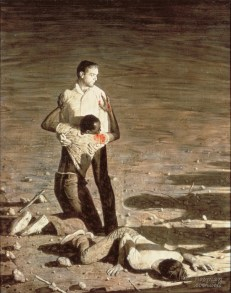 Norman Rockwell Murder in Mississippi, April 6-13 (Omicidio in Mississippi, 6-13 Aprile), 1965 Olio su tela, 135 x 106 cm Collection of The Norman Rockwell Museum at Stockbridge, NRM.1978.7 ©Norman Rockwell Family Agency. All rights reserved. Norman Rockwell Museum Collections
