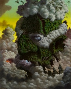 Fulvio Di Piazza_green god_cm 100x80