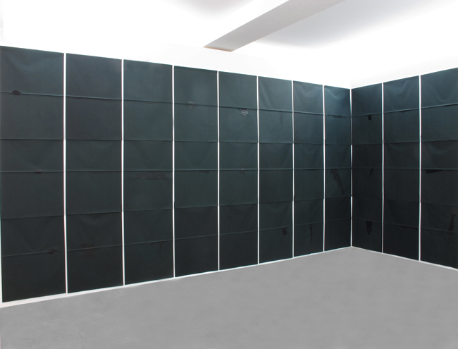 Gianni Moretti, Il trentacinquesimo anno, 2013, stampa monotipo a inchiostro su carta velina, dimensioni variabili, courtesy dell'artista