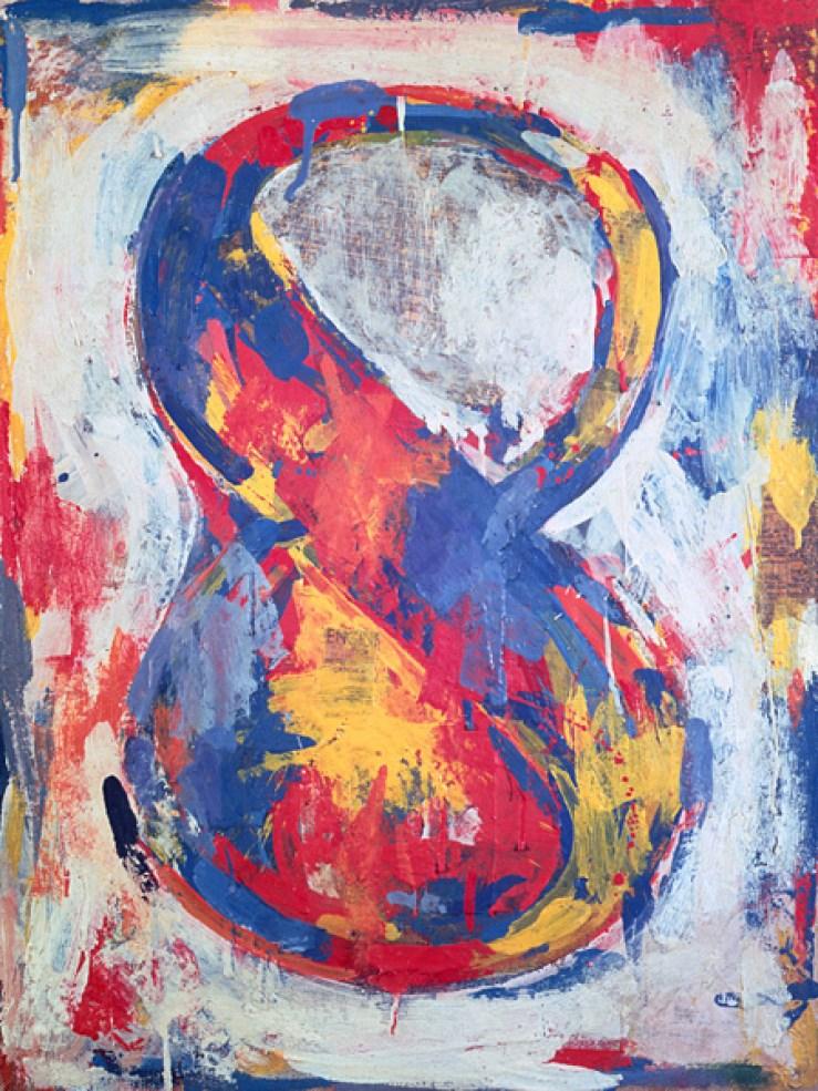 Jasp er Johns Figura 8 (Figure 8), 1959 Encausto su tela 51 x 38 cm The Sonnabend Collection. Prestito a lungo termine presso Ca' Pesaro, Galleria Internazionale d'Arte Moderna, Venezia, Nina Sundell e Antonio Homem