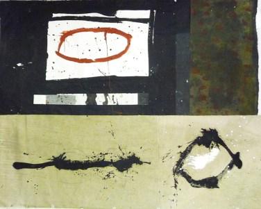 Vanni Spazzoli, Inner patterns, 2014, tecnica mista su carta intelata, cm 175x220