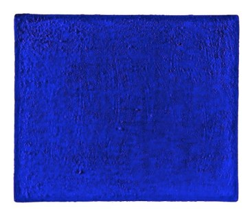 Yve s Klein Monocromo blu senza titolo (Monochrome bleu sans titre), 1958 Pigmento puro e resina sintetica su garza incollata su pannello 54,5 x 45,5 cm Collezione Monastero di Santa Rita, Cascia Foto Giovanni Galardini Yves Klein, Untitled Blue Monochrome (Monochrome bleu sans titre), 1958 Dry pigment and synthetic resin on gauze mounted on panel 54.5 x 45.5 cm Monastero di Santa Rita Collection, Cascia Photo