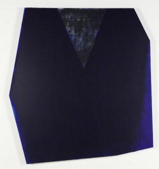Rodolfo Aricò, Dentro il blu, 1993, acrilico e carta su tela, 169x155 cm Courtesy Lorenzelli Arte, Milano