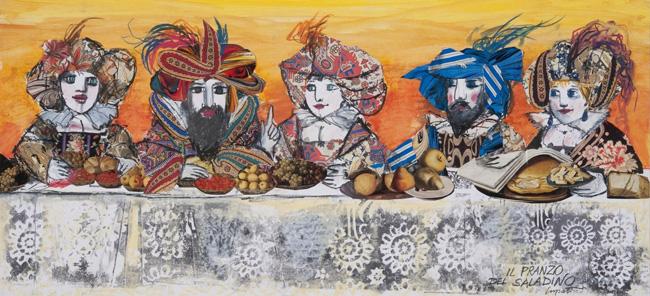 Emanule Luzzati. Il pranzo di saladino