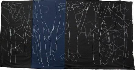 Giovanni Frangi, Ansedonia, 2014, 300x600cm, Pastelli grassi su tela