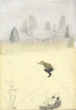 Elisa Bertaglia, Metamorphosis #2, 29,5x20,5 cm, olio, carboncino e grafite su carta, 2014