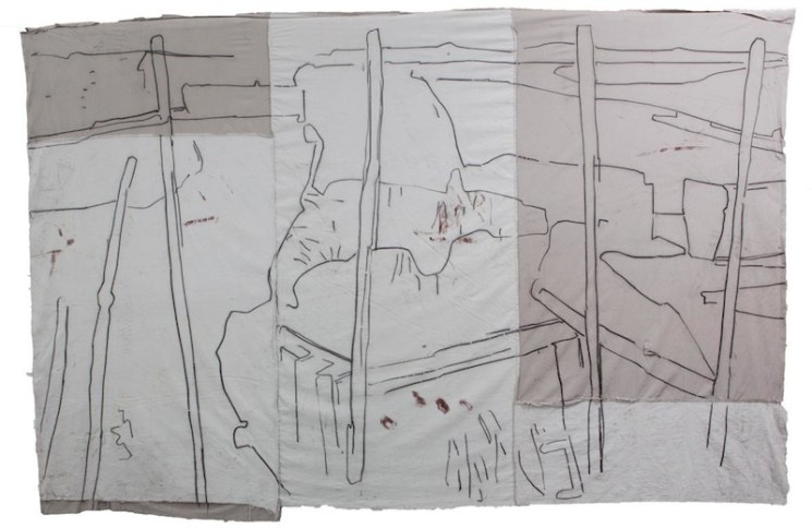 Giovanni Frangi: Delta, 2014, 300x420cm, Pastelli grassi su tela