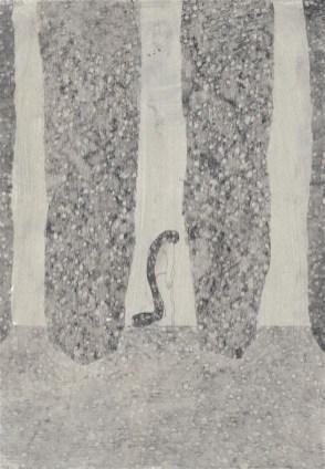 Elisa Bertaglia, Metamorphosis, 29,5x20,5 cm, olio, carboncino e grafite su carta, 2014