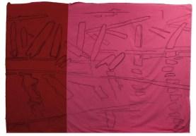 Giovanni Frangi: Rosso Adige, 2014, 300x460cm, Pastelli grassi su tela