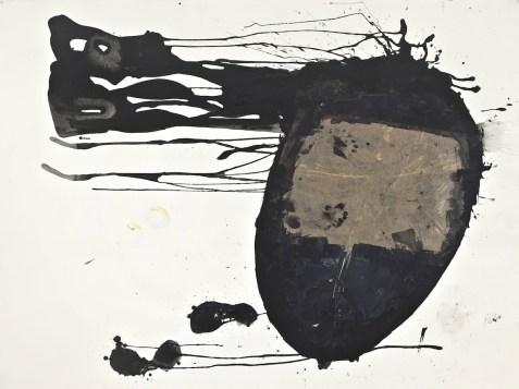 Simona Caramelli, 'Untitled' (night), 2014, acrilico e carta da pacchi su carta, 140x190 cm