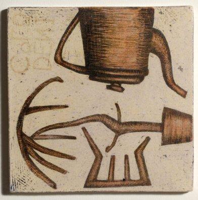 Mirco De Nicolò, Sketch 2, ceramica 20x20 cm