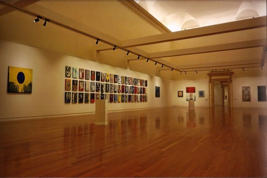 Allestimento della mostra di Roberto Floreani a Palazzo della Gran Guardia di Verona