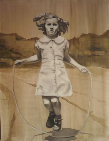 Barbara Nahmad, Alla corda, 2014, 130x110 cm