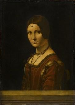 Leonardo da Vinci, Belle Ferronière, olio su tavola di noce, 63x45 cm Paris, Louvre, Département des Peintures © 2014. The Trustees of the British Museum c/o Scala, Firenze