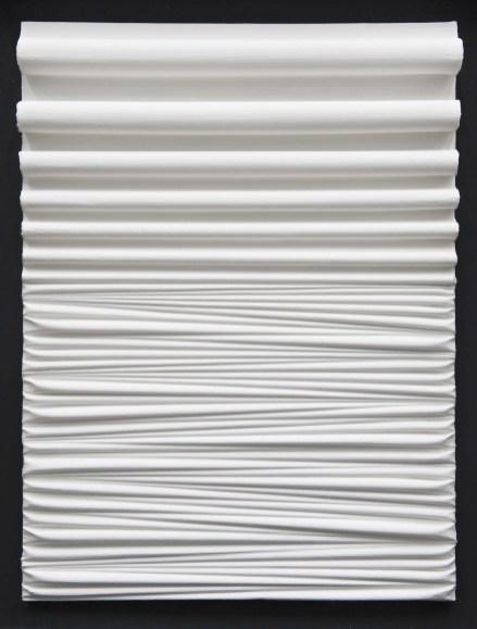 Umberto Mariani, Senza titolo, 2014, acrilico e sabbia su lamina di piombo 80x60.5 cm Provenienza Studio dell'artista, Milano - Jerome Zodo Contemporary, Milano
