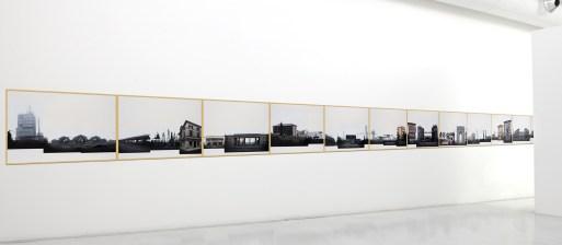 Eugenio Tibaldi, Landscape Verona - 1>30, 2015, acrilico bianco e stampa fotografica su carta Fedrigoni, 105x75 cm l'una Courtesy Studio la Città, Verona Foto Michele Sereni
