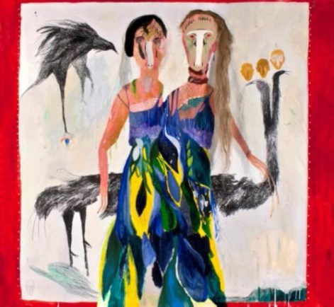 Silvia Mei, Il distacco, 2013, tecnica mista su carta, 165x150 cm