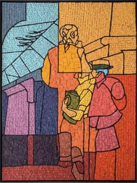 Valerio Adami, S.t., 2014, mosaico, 86x62 cm Courtesy Galleria Forni, Bologna