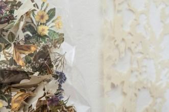 Gianluca Quaglia, Il luogo dei fiori e delle api, 2015, intagli su carta, busta di plastica, misure intaglio 70x50 cm, busta 30x20x7cm (dettaglio) Foto Marcella Savino