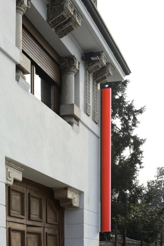 Herbert Hamak. Point Alpha, veduta dell'installazione esterna, Studio La Città, Verona