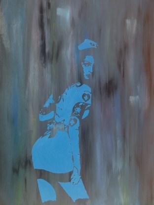 Matteo Sanna, Nobody's wife_2015_acrylic on wood_100 x 80 cm