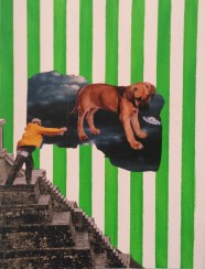 Matteo Sanna, The dog don'sleep_2015_Collage_30 x 40 cm