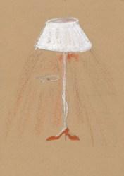 Tiziana Fusari, Matita, pastelli a cera su carta, 17x12 cm