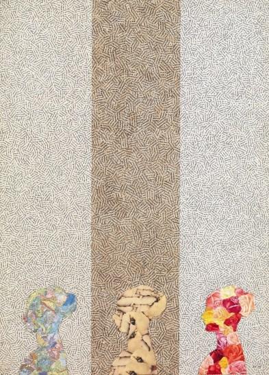 Jiří Kolář, Navrat, 1970, collage e chiasmage su tavola, 100x71 cm
