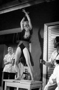 "Edward Quinn, Brigitte Bardot during ""dieu crea la femme, Studios de la Victorine, Nice 1956, 85cm x 120cm Edition 5. Courtesy Suite 59 Gallery"