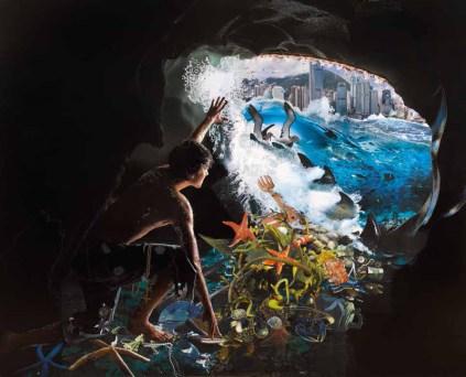 David Mach, Jonah and the Whale - Hong Kong - 2011 - cm 305 x 244