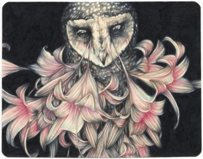 Marco Mazzoni, CRYING AT THE DISCO, 2015, matite su moleskine, 14x18 cm