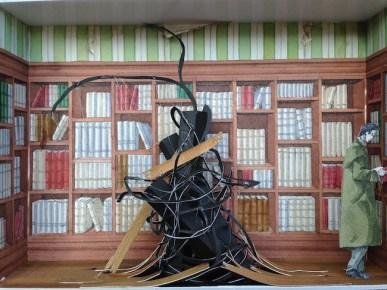 Monolocale 3, 2014, tecnica mista su carta, cm 35x50 copia